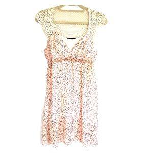☘️3/$30- Polka dot and Crocheted Baby Doll Dress S